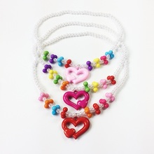 1 Set/lot New Arrive Imitation Pearl Fox/Kitty/Rabbit Childrens Colorful Necklace Bracelet Set Multi-Style For Your Choose