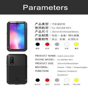 Image 5 - Love Mei For Xiaomi Mi 9 Case Shockproof Silicone  Metal Armor Protective Case For Xiaomi Mi8 M8 Mi9 Mi6 Cover Funda  Glass Film