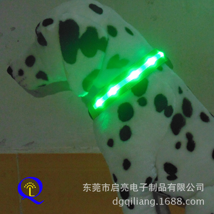 Washable LED Luminous Pet Collar Highlight Flash Dog Neck Ring Recruitment Nationwide