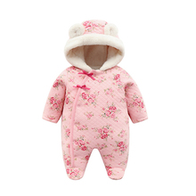 new born baby girl winter clothes 6m cute set romper fleece thick warm rompers newborn cotton coveralls 3 month