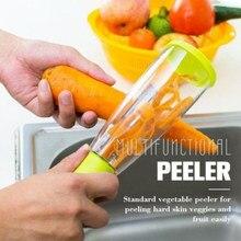 Couteau à éplucher multifonctionnel en acier inoxydable, Type de stockage, avec baril éplucheur de légumes et de fruits, couleur aléatoire, 1 pièces