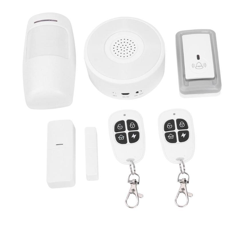 TUYA système d'alarme de sécurité GSM sans fil à domicile avec contrôle APP WiFi alarme antivol sans fil 433 Set Support pour Amazon Google