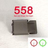 Novo tactical 558 colimador vista holográfica vermelho verde dot óptica escopo reflexo visão terra escura cor clara lente para airsoft
