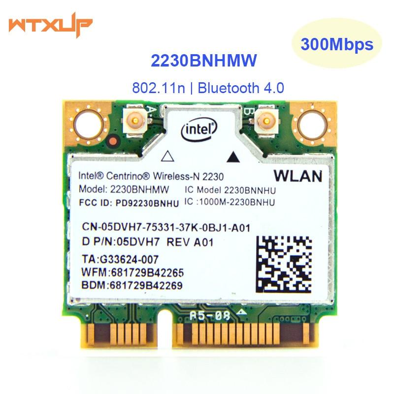 half Mini PCI Express wifi Wireless-N Adapter for Intel Centrino 2230BNHMW 2230BN 300M Bluetooth 4.0 Wlan card + BT 4.0(China)
