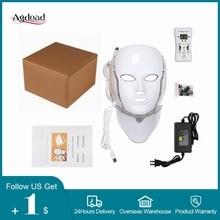 7 Kleuren Led Masker Huidverjonging Photon Lichttherapie Anti Aging Gezichtsmasker Koreaanse Schoonheid Machine Whitening Nek Huidverzorging Tool