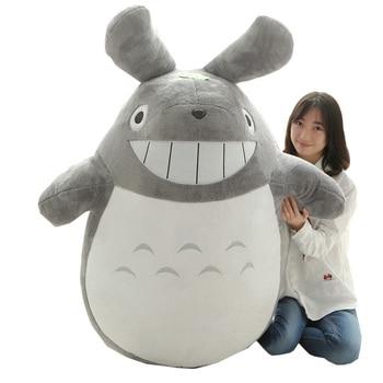 Dorimytrader 180cm Pop Biggest Anime Totoro Plush Toy 71'' Jumbo Stuffed Soft Cartoon Kids Doll Pillow Child and Adult