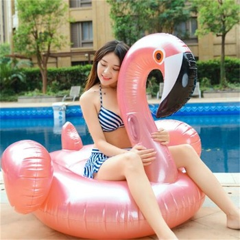 150cm Summer Inflatable flamingos Shape Swim Pool Floats Raft Air Mattresses Swimming Fun Water Sports Beach Toy For Adult