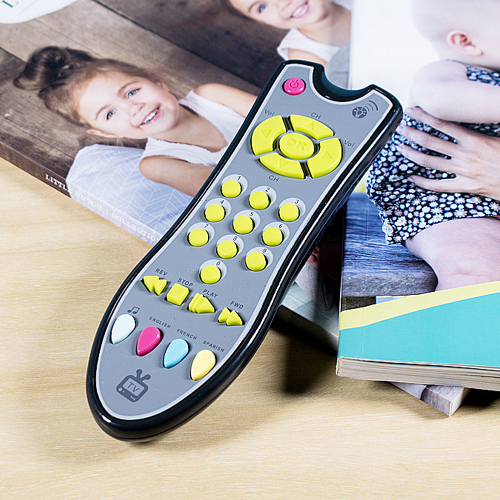 With Voice Simulation Learning Machine Baby Toys Music Multifunctional Gift Mobile Phone TV Remote Control Plastic Numbers