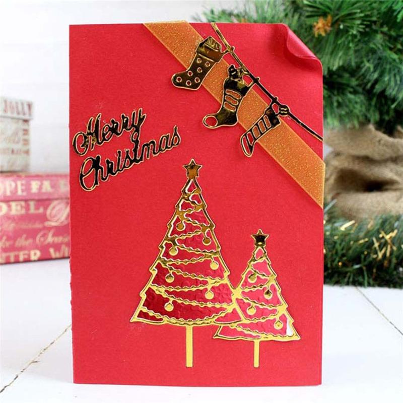 YaMinSanNiO Christmas Tree Metal Dies Cutting Dies Scrapbooking Embossing Dies Cut Stencils DIY Cards Craft Dies for New 2019 in Cutting Dies from Home Garden
