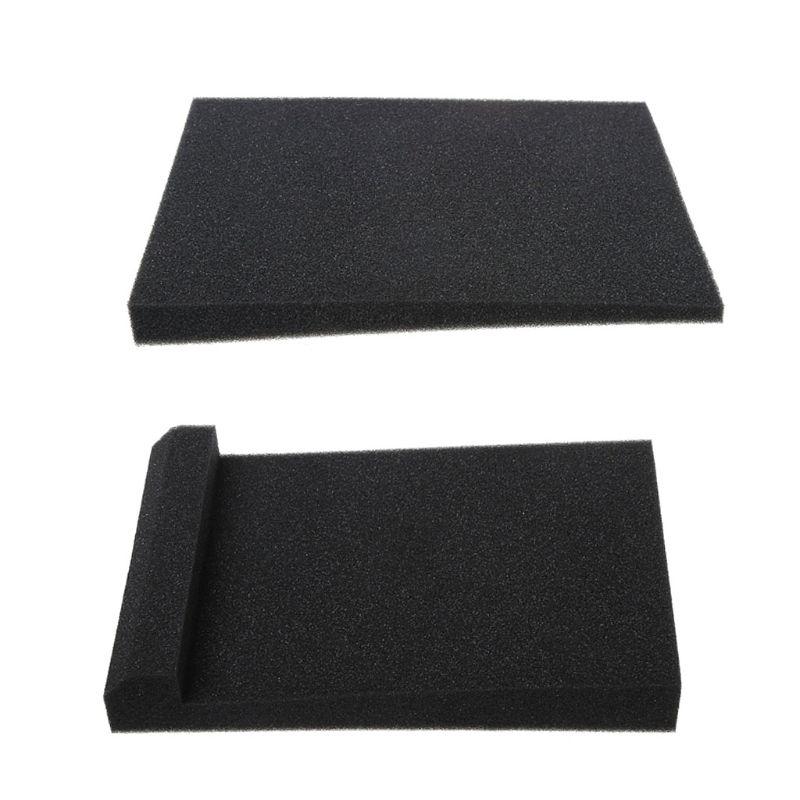 300x200x45MM Black Sponge Studio Monitor Speaker Acoustic Isolation Foam Isolator Pad For Recording Studios Karaoke Accessories