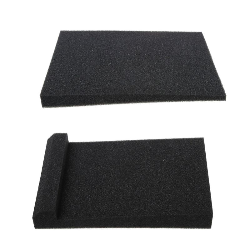 300x200x45MM Black Sponge Studio Monitor Speaker Acoustic Isolation Foam Isolator Pad For Recording Studios Karaoke Accessories
