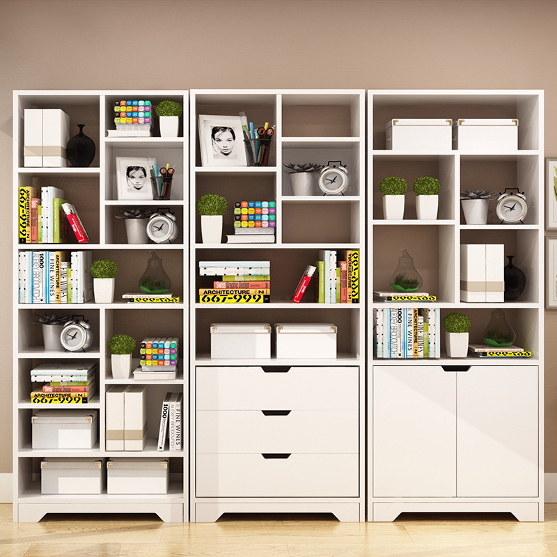 Simple Bookcase Floor Storage Shelf Students Bookcase Bookshelf Combination Minimalist Modern Bookcase Living Room Bookshelf