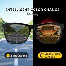 2021 Brand Benci Night Driving Sunglasses Photochromic Polarized Clear Vision Eyewear Square Metal Fishing Sun Glasses Men UV400