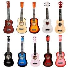 """Маленькая гитара укулеле деревянная 2"""" деревянный музыкальный инструмент Уке Сопрано Гавайская Акустическая гитара Музыкальные инструменты"""