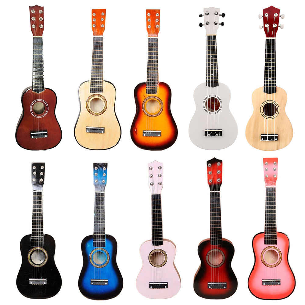 "Small Guitar Ukulele Wooden 21"" Wood Musical Instrument Uke Soprano Hawaiian Acoustic Guitar Musical Instruments"