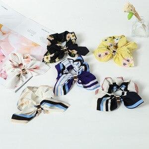 LOVINGSHA, милые заячьи ушки, цветочные женские аксессуары для волос, эластичная лента для волос, резинка для волос для девочек, резинка для волос, резинки для волос