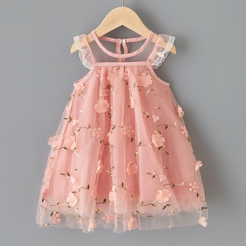 Collager Toddler Baby Girls Dress Princess Dresses Casual O-Neck Pink Velvet Soft Dress