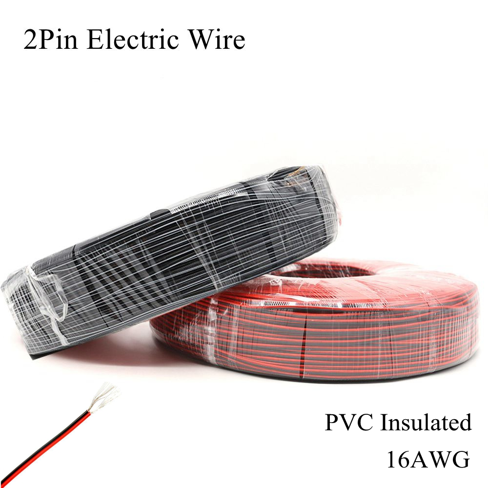 <font><b>20AWG</b></font> <font><b>2Pin</b></font> Electric Wire Red Black Cable Tinned Copper Wires PVC Insulated Electrical Extension Core Lighting LED Strip Light image