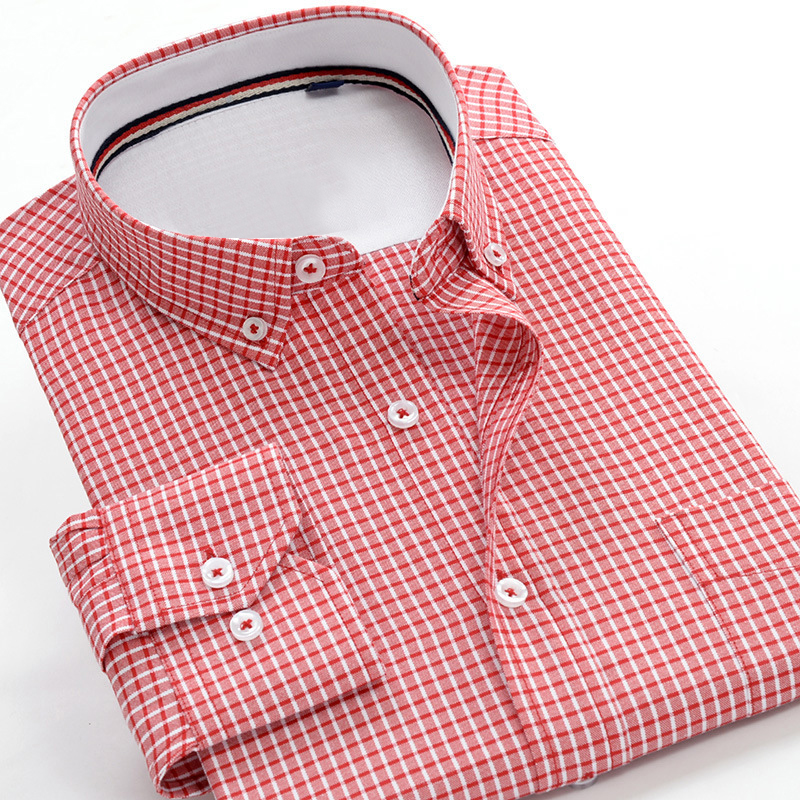 2019 Autumn New Quality Fine Plaid Men's Business Casual Long Sleeve Shirt Large Size Loose Shirt 3XL 4XL 5XL 6XL 7XL 9XL 10XL