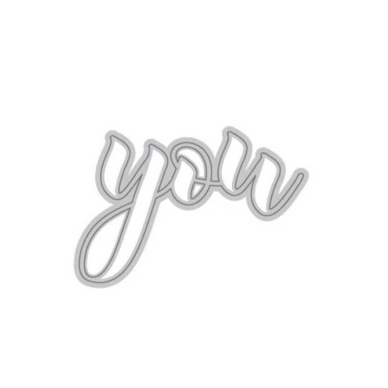 2020 새로운 뜨거운 알파벳 당신은 금속 절단 죽을 스텐실 및 3D 호일에 대한 Scrapbooking 편지 단어 죽을 잘라 공예 금형 세트 스탬프 없음