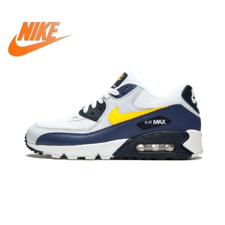 Original Authentic NIKE AIR MAX 90 ESSENTIAL Low Men's Running Shoes Lightweight Cozy Classic Sport Outdoor Sneakers AJ1285-101