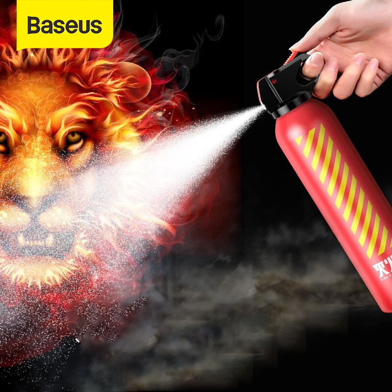 Baseus Car Fire Extinguisher 600ml With Holder Sticker Trunk Belts For Home Auto Styling Accessories