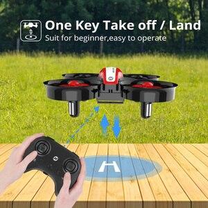 Image 3 - La piedra sagrada HS210 Mini RC Drone juguete sin Drones Mini RC Quadrocopter Quadcopter Dron una llave tierra Auto flotando helicóptero