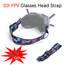 Für DJI FPV Combo Drone V2 Brille Stirnband Einstellbar Graffiti Kopfband mit Batterie Halter Gläser Gurt Befestigungs Zubehör