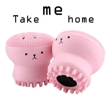 Silikonowa szczoteczka do oczyszczania twarzy płyn do demakijażu do oczyszczania porów Exfoliator pędzel do mycia twarzy pielęgnacja skóry kształt ośmiornicy tanie i dobre opinie BOLUOYIN Unisex CN (pochodzenie) 0 024kg Brak CHINA GZZZ Czyszczenia twarzy Pielęgnacja twarzy Face Cleaning Octopus Jellyfish Facial Cleansing Brush