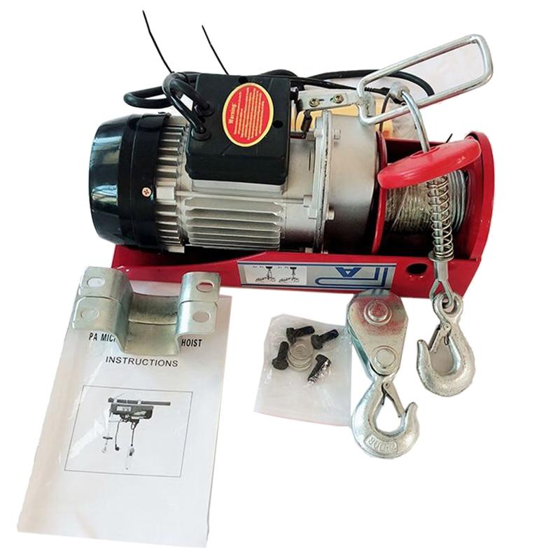 US Plug Electric Hoist / With Electric Hoist PA200 Household Crane Cable Hoist Electric Winch Motor HWC