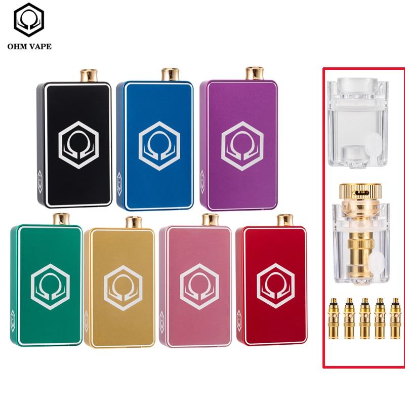 Original OHM AIO Vape Kit With USB Port 45W Box Mod Kit3ml Vaporizer Tank Power By Single 18650 VS Dotmod Aio E-Cigarettes Vape