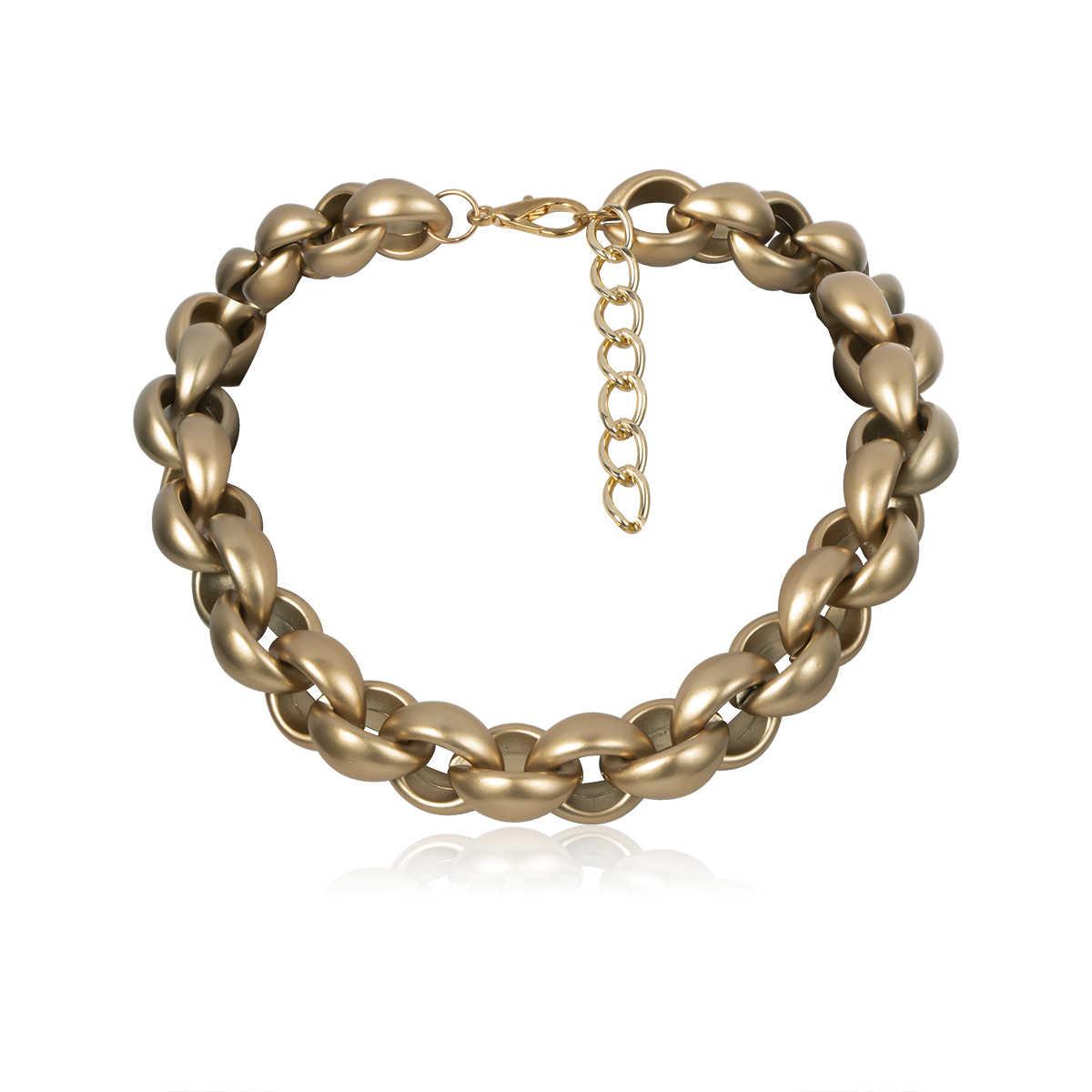 Exagéré Vintage antique collier ras du cou pendentif femmes déclaration serrure lien chaîne épaisse collier Steampunk hommes bijoux