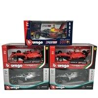BBurago-coche de carreras de Fórmula 1, coche de juguete de escala 1:43 F1 2019 AMG W10 RedBull RB15 SF90