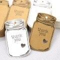 Форма бутылки Крафт-Подарочная бирка, Свадебные вечерние бумажные бирки Цена Этикетка повесить бирка 50 шт./лот
