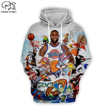 Men Cartoon bugs Bunny basketball 3d hoodies Sweatshirt zipper space Jam looney tunes printing women Pullover couples streetwear