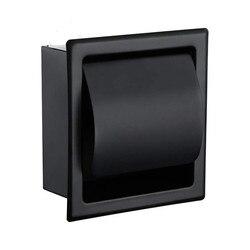 Черный Встраиваемый держатель для туалетной/тканевой бумаги все металлические украшения 304 Нержавеющая сталь двойной настенный рулон бума...