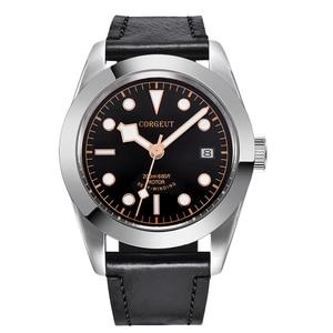 Image 5 - Corgeut 41mm Luxury Brand Military Mechanical Mens Watch Luminous Sport Diver Clock Leather Strap Wristwatch Men
