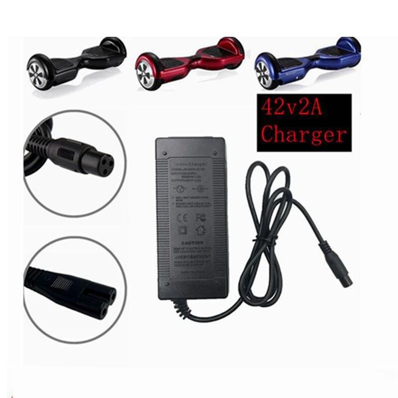 42V 2A 1 pc melhor preço carregador de bateria Universal para Hoverboard 36V adaptador de energia elétrica scooter equilíbrio inteligente carregador UE/EUA