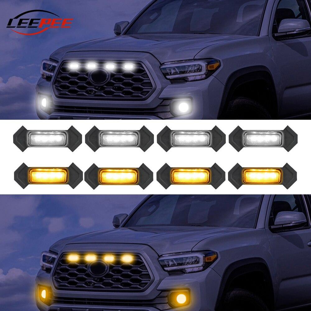Автомобильные светодиодсветодиодный передние противотуманные фары 12 В, маячок, боковые габаритные сигнальные лампы, декоративные автомоб...