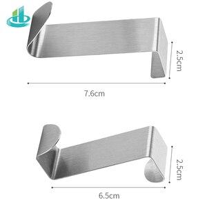 Image 5 - 2PCS Multipurpose Stainless Steel Door Hook For Kitchen Bathroom Cabinet Clothes Towel  Home Storage Hanger Hooks Holder