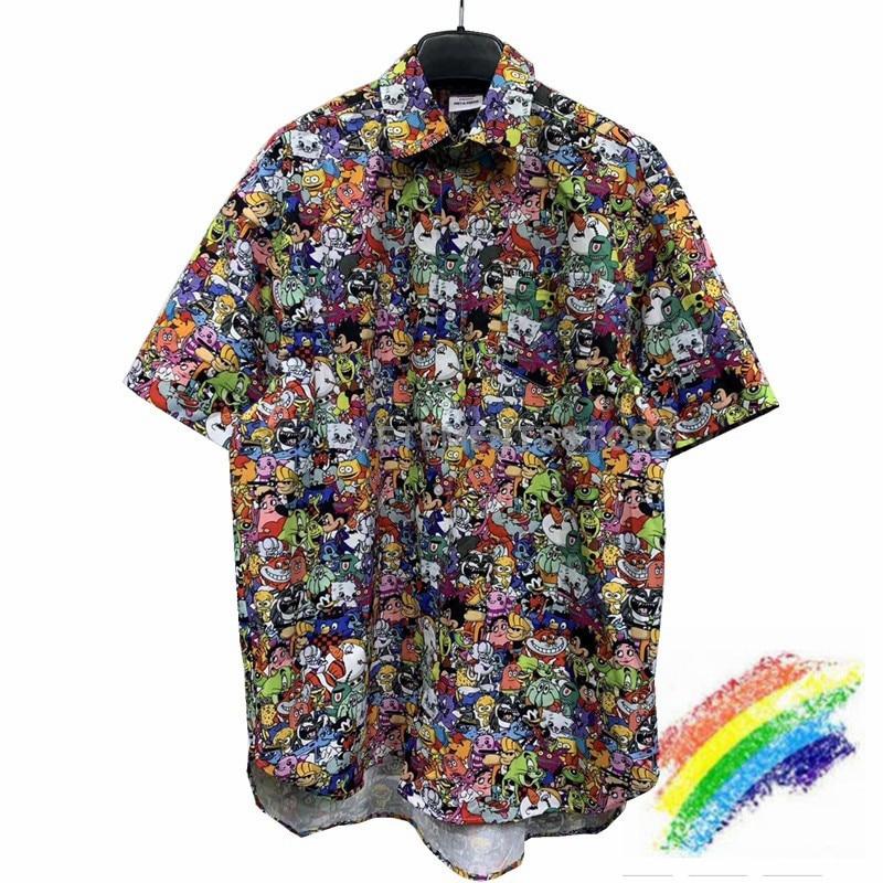 VETEMENTS 2020 CARTOON Shirts Men Women 1:1 Best Qualit Vetements Shirt Streetwear Loose Vetements Embroidery Shirt