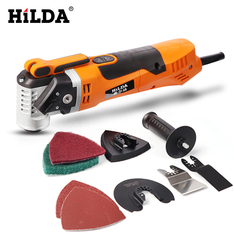 HILDA Renovator Multi Tools Electric Multifunction Oscillating Tool Kit Multi-Tool Electric Trimmer Saw Accessories Power Tool