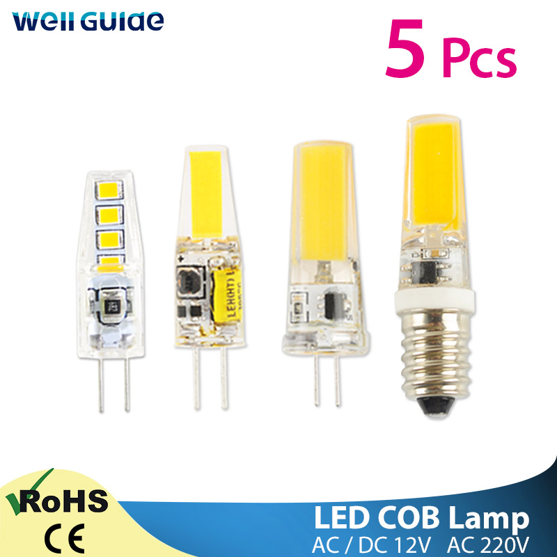 5pcs LED G4 G9 Dimmable LED Light 220V AC DC 12V Led COB Lamp LED G9 3W 6W 10W SMD 2835 LED Lighting Replace Halogen Spotlight