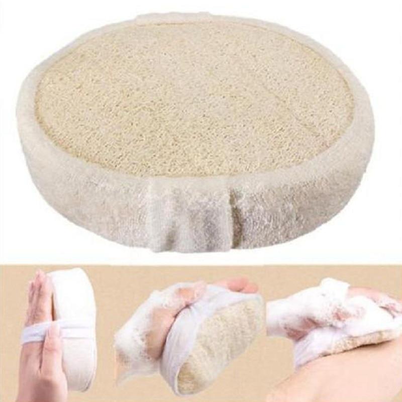 1Pcs Soft Fresh Natural Loofah Luffa Bath Shower Sponge Spa Body Scrubber Exfoliator Bathing Massage Washing Pad