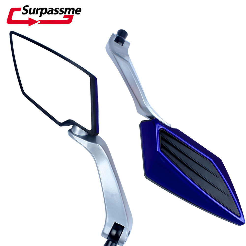 For <font><b>Suzuki</b></font> GSX 600 F <font><b>GSR</b></font> 600 750 Bandit 650 <font><b>125</b></font> Universal Motorcycle Rearview Mirror Cafe Racer Scooter Aluminum Side Mirrors image