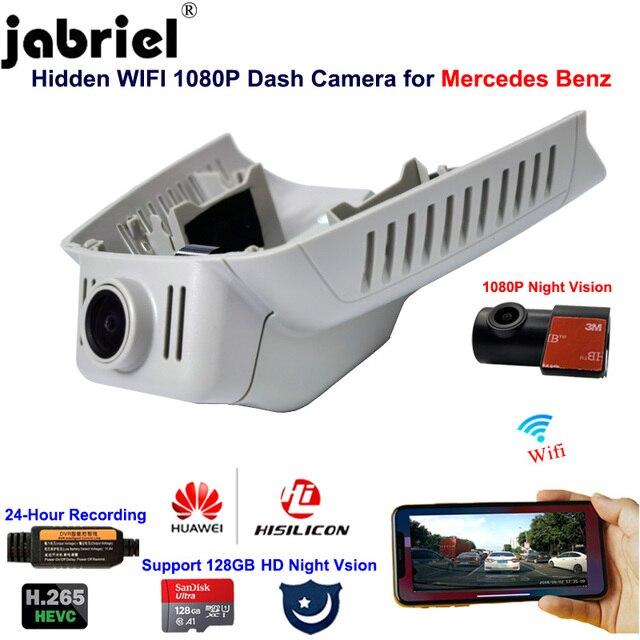 Jabriel 1080P נסתרת Wifi דאש מצלמה לרכב dvr עבור מרצדס בנץ E180 E200 E250 E260 E300 GLK260 GLK300 GLK350 w211 w212 w204