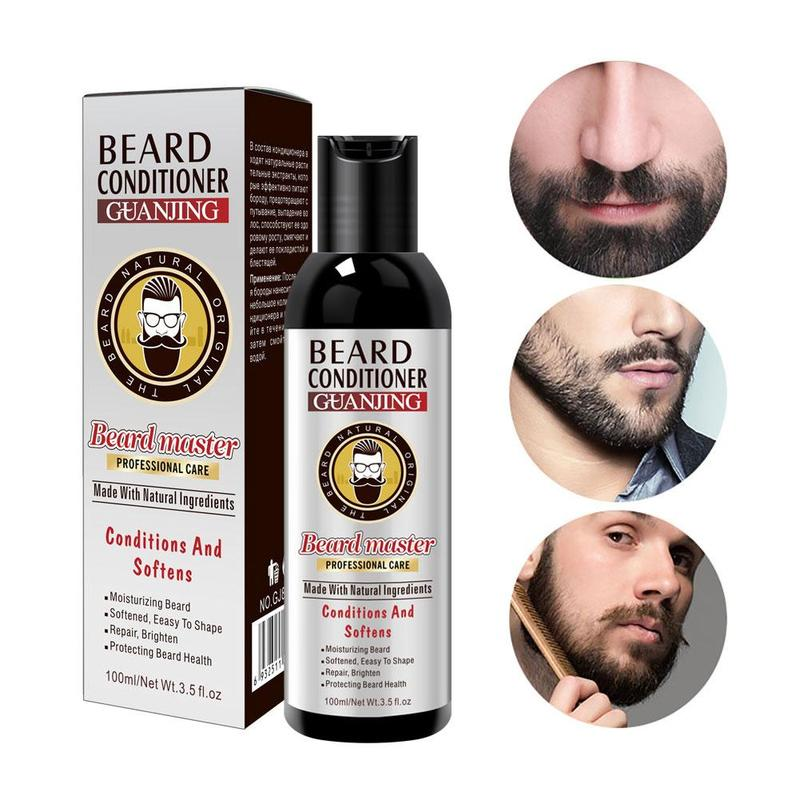 Men's Beard Shampoo Deep Cleansing Nourishing Beard Cleanser Wash Moisturiser Deep Cleansing Beard Conditioner 100ml