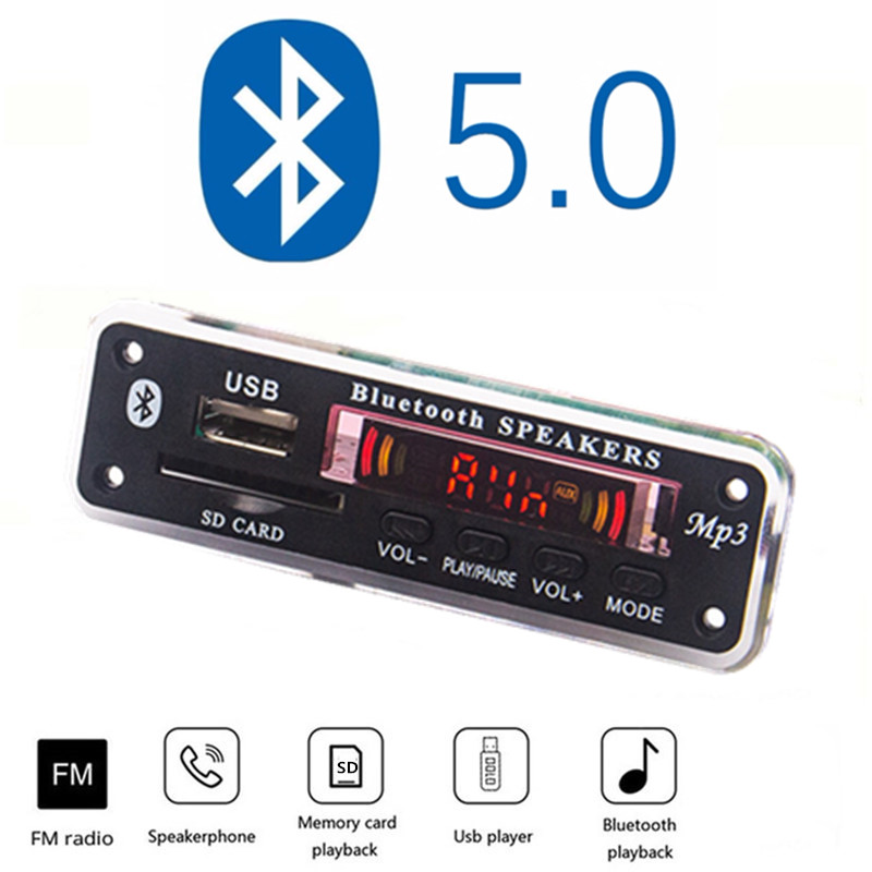 12V Car Fittings  Mp3 Player Bluetooth MP3 Decoder Board MP3 Card Reader MP3 Bluetooth Module Audio Accessories With FM Radio