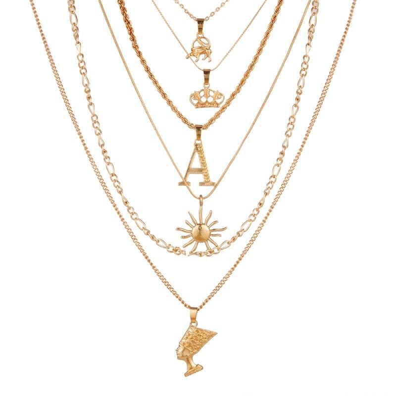 VKME модное жемчужное ожерелье с двойным слоем Love аксессуары Женское Ожерелье Bijoux подарки - Окраска металла: ZL0000831