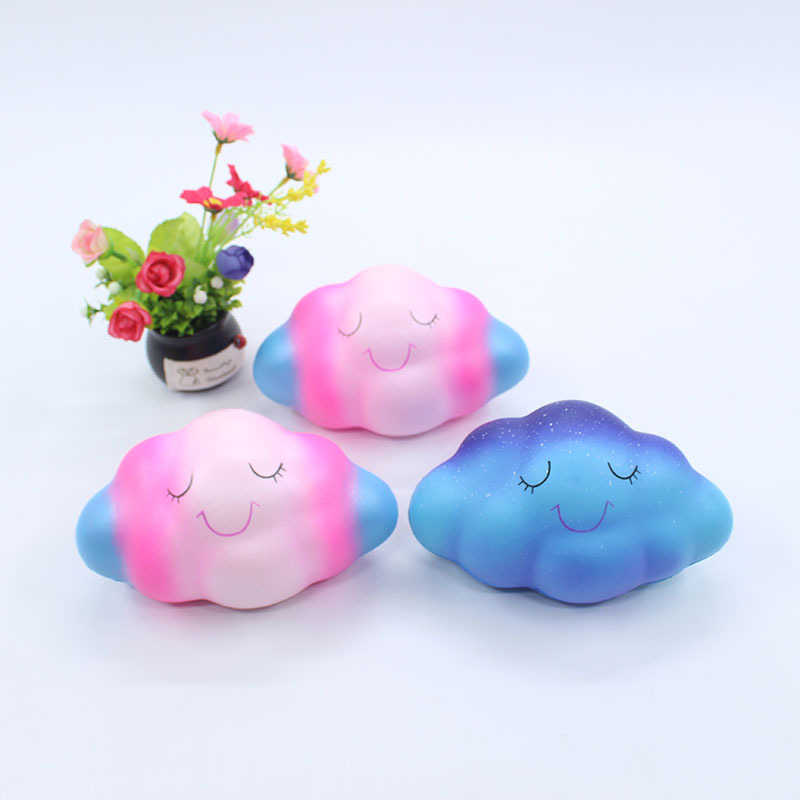 Kawaii Smiley Colorful Cloud Rainbow Squishy Slow Rising Bread Soft Scented Squeeze Toy Antistress Relief Fun Toys For Children